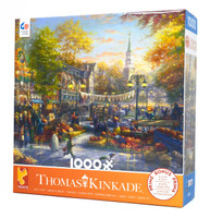 The Pumpkin Festival 1000-piece Kinkade Jigsaw Puzzle