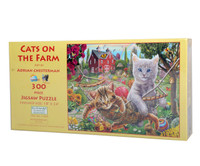 Cats on the Farm Large Piece Jigsaw Puzzle