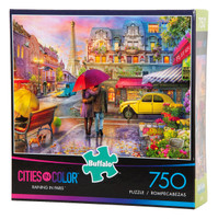 Raining in Paris - Cities in Color - 750 Piece Puzzle