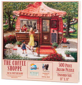 The Coffee Shop by Janet Kruskamp - Jigsaw Puzzle