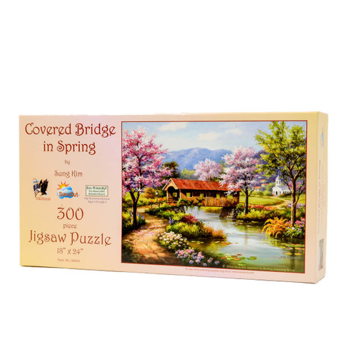 Covered Bridge in Spring (300 Large Piece Puzzle)