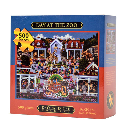 Day at the Zoo (Eric Dowdle Jigsaw Puzzle)