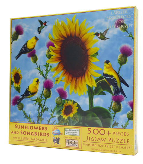 Sunflowers and Songbirds (Large Piece Puzzle)