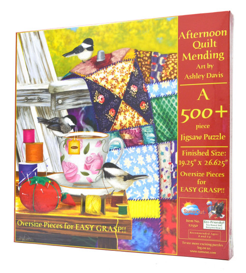 Afternoon Quilt Mending (Large Piece Puzzle)