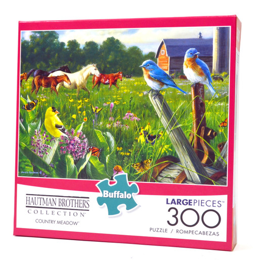Country Meadow Large Piece Jigsaw Puzzle