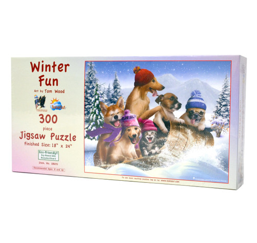 Winter Fun Large Piece Puzzle