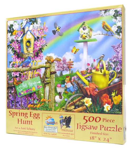 Spring Egg Hunt 500-Piece Puzzle
