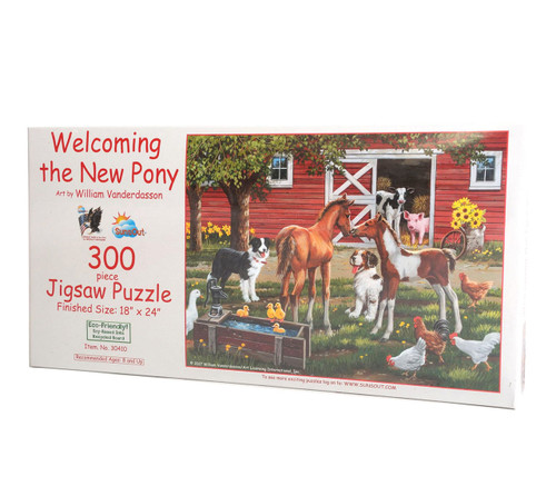Welcoming the New Pony 300 Large Piece Jigsaw Puzzle