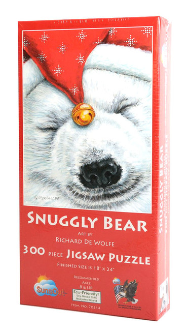 Snuggly Bear Large Piece Puzzle