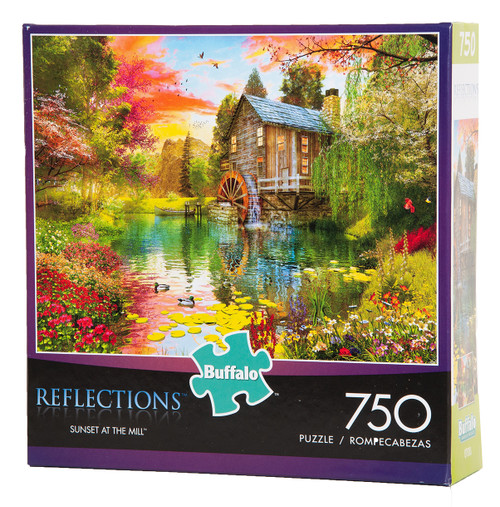 Sunset at the Mill - Reflections - 750 Piece Puzzle