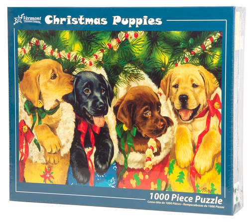 Christmas Puppies Jigsaw Puzzle