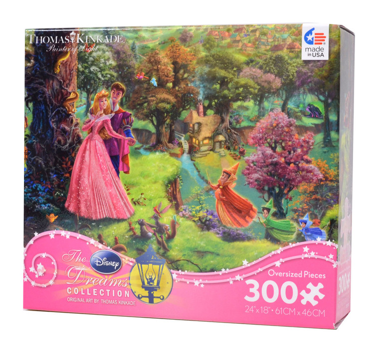 Sleeping Beauty - Thomas Kinkade - Disney - 300 Pieces (Large Piece)