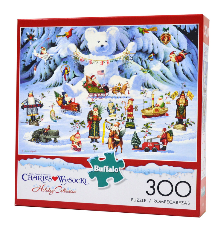 Jingle Bell Teddy and Friends (300 Large Piece Jigsaw Puzzle)