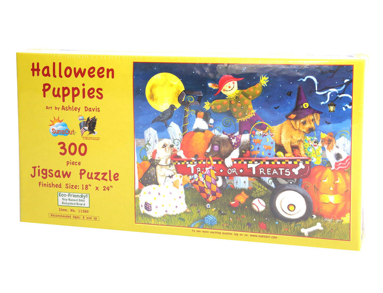 Halloween Puppies Large Piece Puzzle