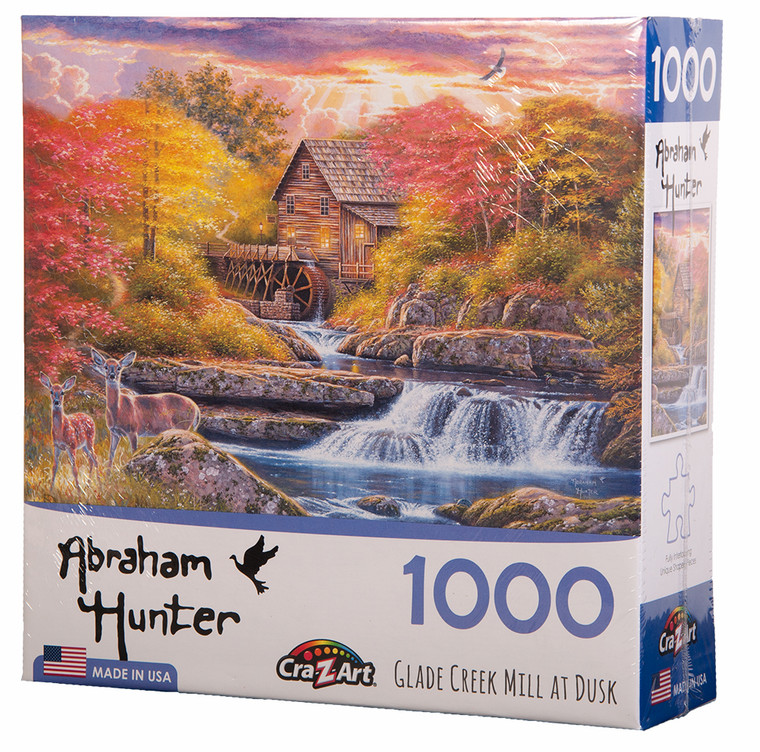 Glade Creek Mill at Dusk Jigsaw Puzzle by Abraham Hunter