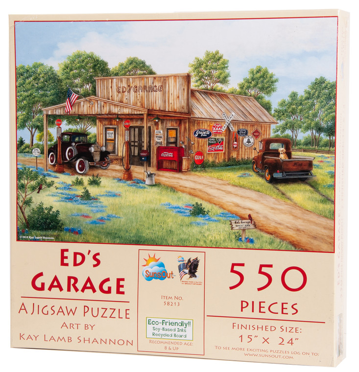 Ed's Garage 550-piece Puzzle