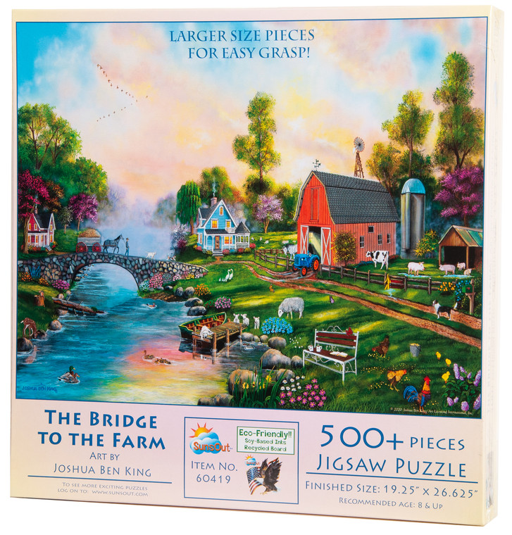 The Bridge to the Farm Large Piece Puzzle