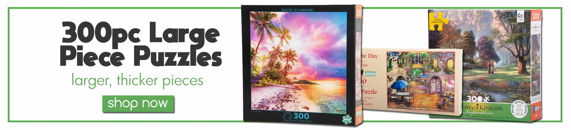 300 Large Piece Jigsaw Puzzles
