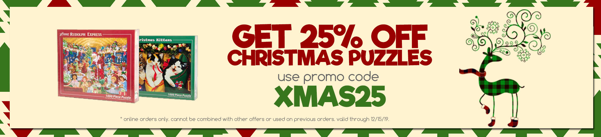 25% off Christmas Puzzles