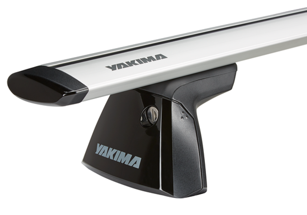 yakima baseline clip tower 8000146 - with jetstream aerodynamic bar