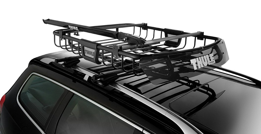 thule moab 690xt locking cargo basket with accessory load bars