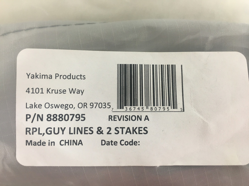 Yakima SlimShady Replacement Guy Lines and Stakes 8880795