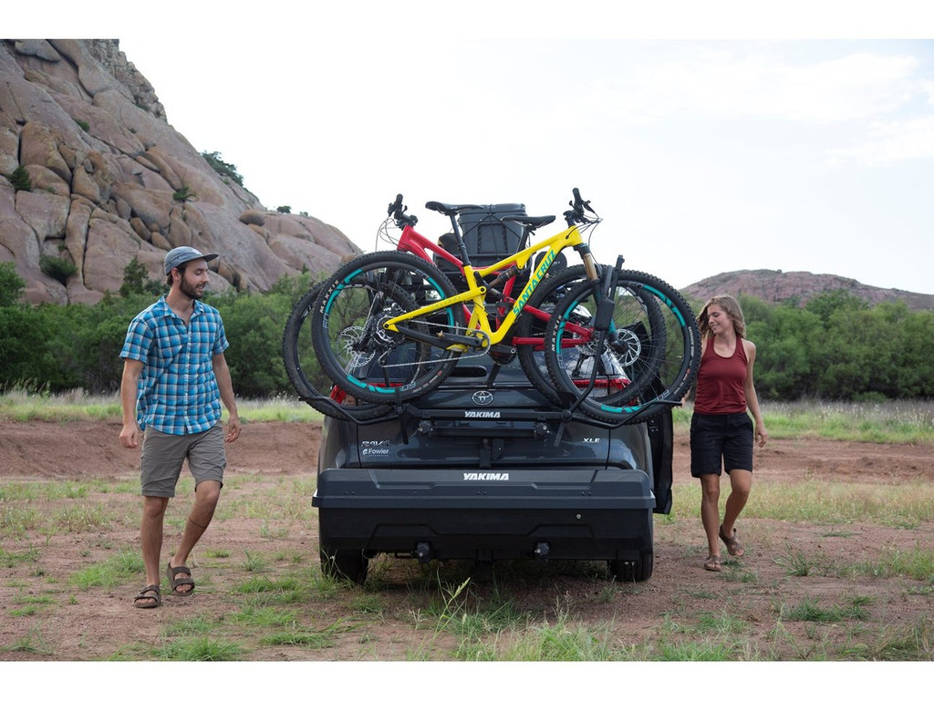 Bikes and extra gear never had an easier time than with the Yakima DoubleUp and SwingBase!