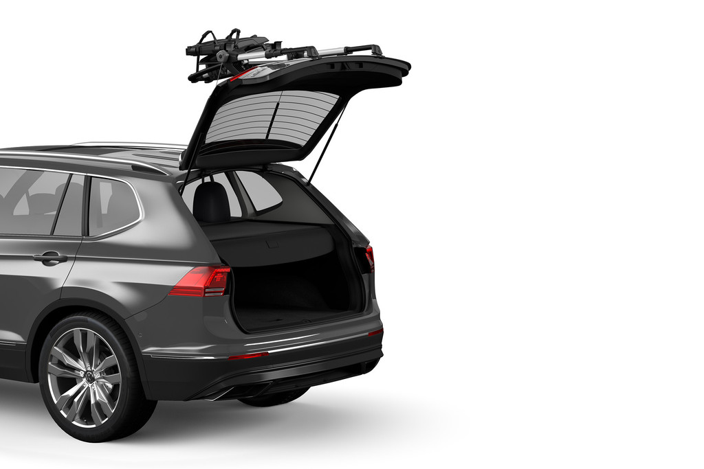Fold it up, open the trunk, grab your gear, and get your biking on!