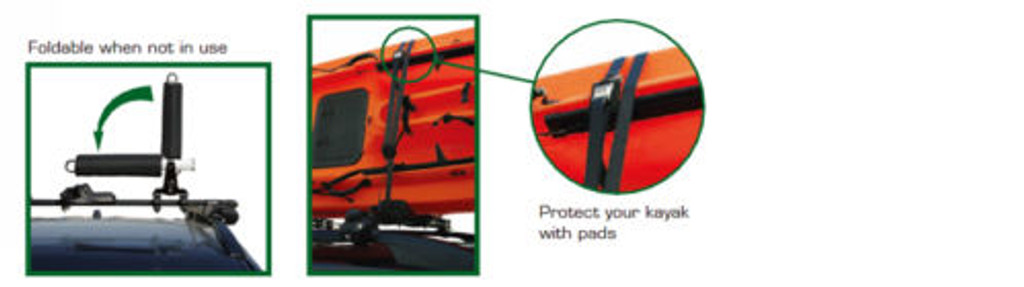 Inno INA450 Two Kayak Carrier - Return