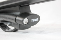 "Complete 43"" Thule Aeroblade roof rack package - 450R towers, locks"