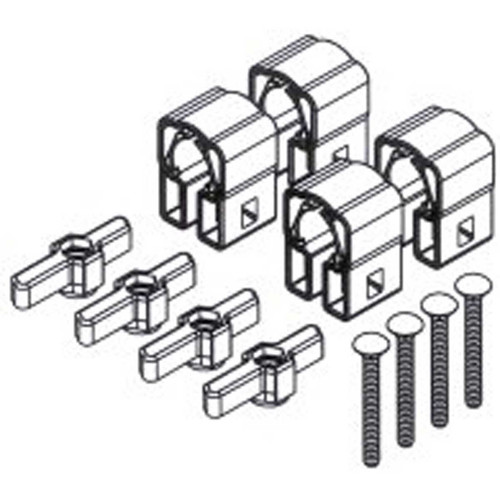 8830021 yakima powderhound buttondown round square bar mounting hardware