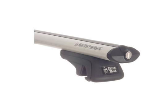 rhino rack silver sportz aero bar for side rails