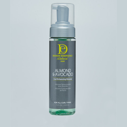 A 7.5oz bottle of Design Essentials Almond & Avocado Curl Enhancing Mousse