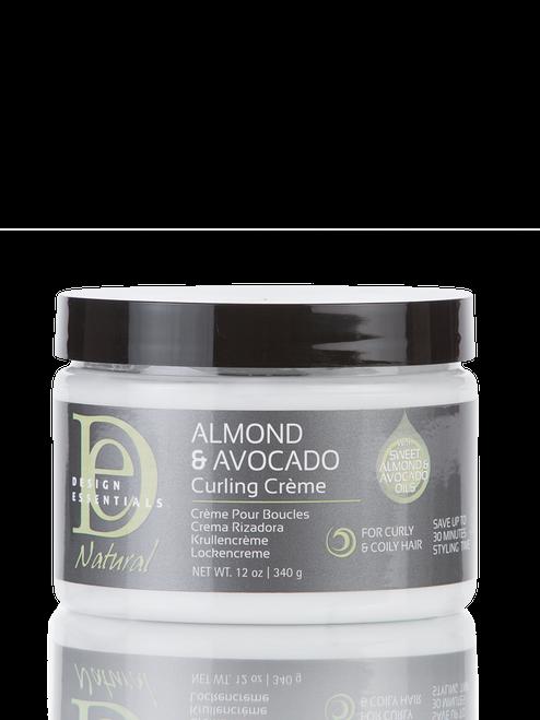 A 12oz bottle of Design Essentials Almond & Avocado Curling Creme