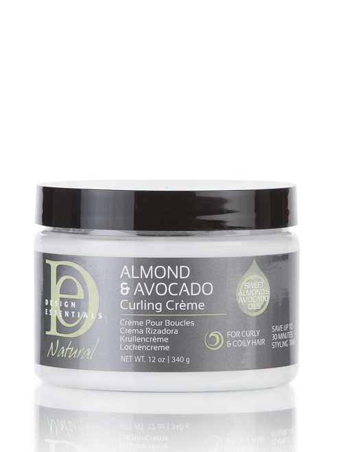 A 12oz bottle of Design Essentials Almond & Avocado Curling Creme