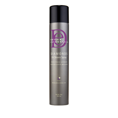 A bottle of Design Essentials Diamonds Oil Sheen Spray