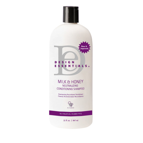 A 32oz bottle of Design Essentials Neutralizing Conditioning Shampoo