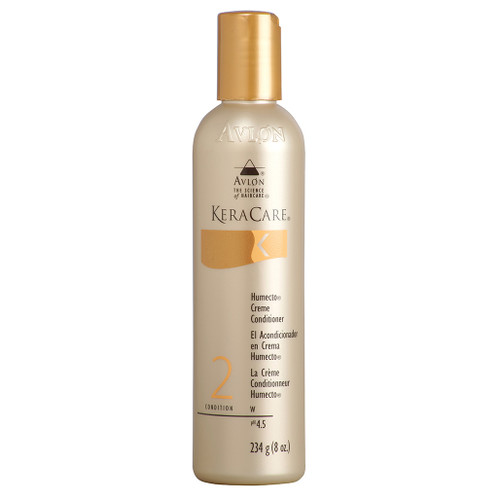 An 8oz bottle of KeraCare Humecto Crème Conditioner