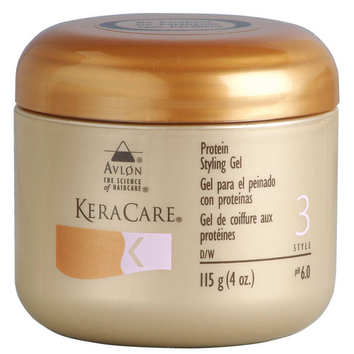 An 4oz jar of KeraCare Protein Styling Gel