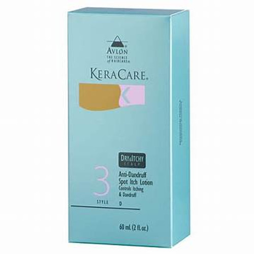 A 2oz packet of KeraCare Anti Dandruff Spot Itch Lotion
