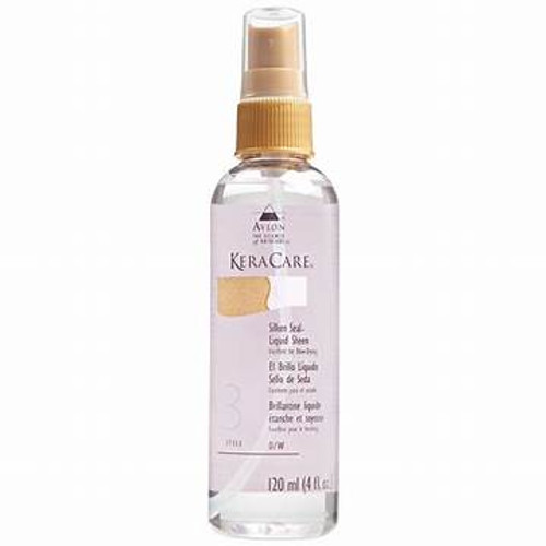 A 4oz bottle of KeraCare Silken Seal Liquid Sheen