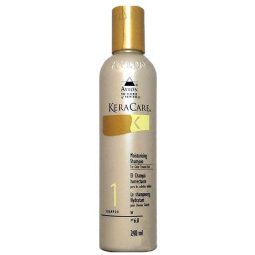 An 8oz bottle of KeraCare Moisturising Shampoo for Colour Treated Hair