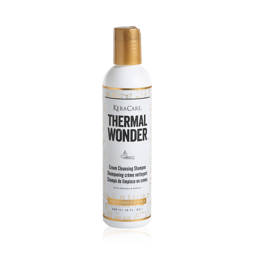 An 8oz bottle of KeraCare Thermal Wonder Cream Cleansing Shampoo