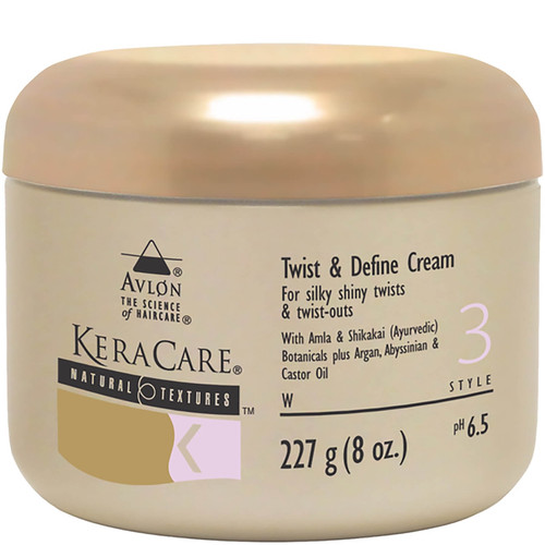 An 8oz jar of KeraCare Natural Textures Twist & Define Cream
