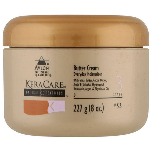 An 8oz jar of KeraCare Natural Textures Butter Cream (Daily Mosituriser)