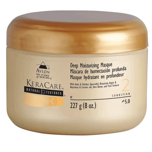An 8oz jar of KeraCare Natural Textures Deep Moisturizing Masque