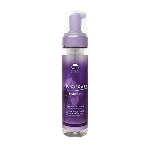 An 8oz bottle of Affirm StyeRight Foam Wrap Lotion