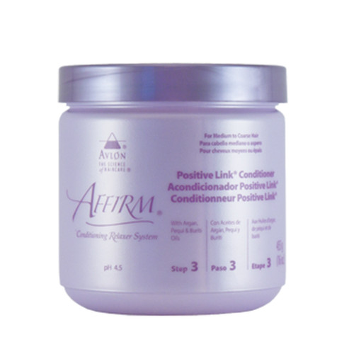 A 16oz jar of Affirm Positive Link Conditioner