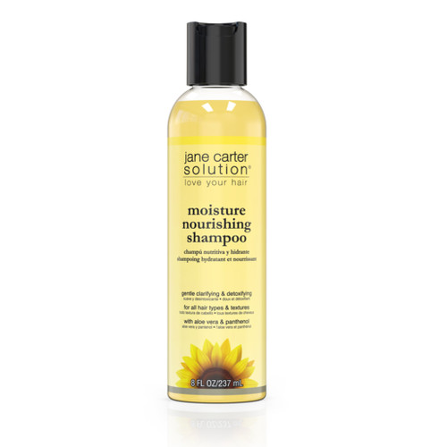 An 8oz bottle of Jane Carter Solution Moisture Nourishing Shampoo