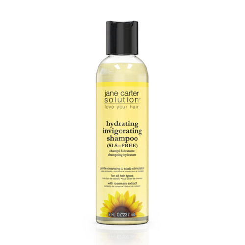 An 8oz bottle of Jane Carter Solution Hydrating Invigorating Shampoo